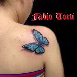 Fabio Torti Tattoo Farfalla Spalla SOFT Tattoo