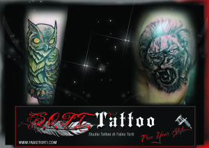 gufo e leone tattoo soft tattoo fabio torti